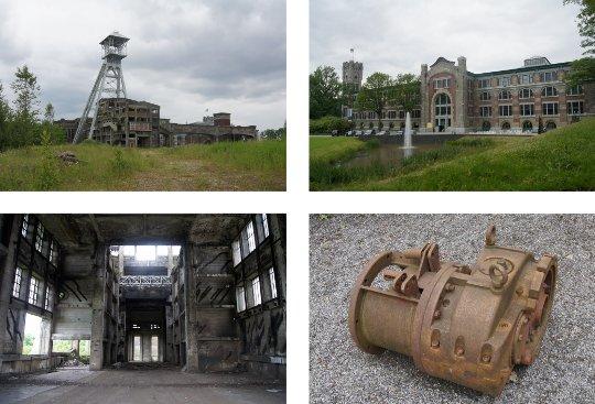 Waterschei Mijn in Genk, Belgien, Außenansichten, Fotos: jvf