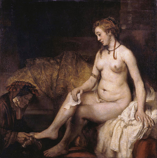 Rembrandt, Bathseba mit König Davids Brief, 1654. Quelle: Wikimedia Commons. Lizenz: PD-Art