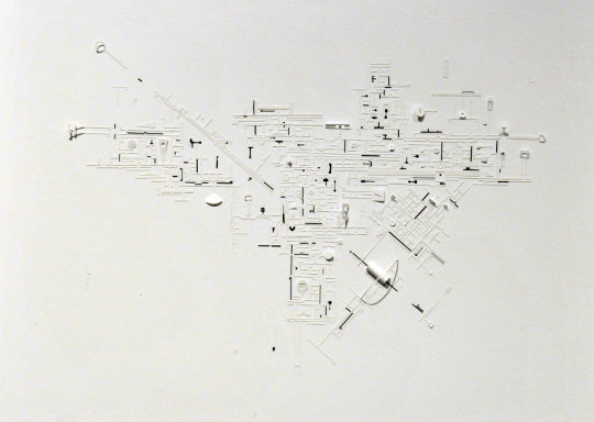 Marco Maggi, Paper Drawing (black and white triptych). 2014. Courtesy of Galeria Cayón. Free from Copyright