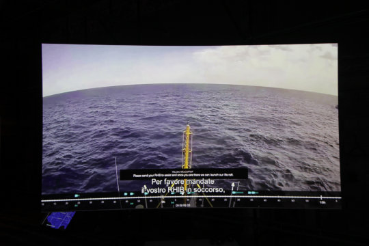Forensic Oceanography, Liquid Violence, 2018. Videoinstallation und mixed media. Photo Courtesy: Manifesta 12 Palermo and the artist
