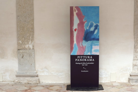 Pittura / Panorama – Paintings by Helen Frankenthaler, Palazzo Grimani. Foto: jvf