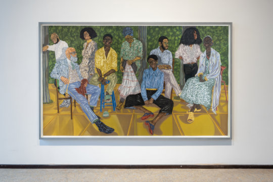 Toyin Ojih Odutola, The Firm (2017/18). Kohle, Pastell und Bleistift auf Papier. Courtesy of Jack Shainman Gallery. Future Generation Art Prize @ Venice 2019 (11. Mai – 18. August 2019), futuregenerationartprize.org